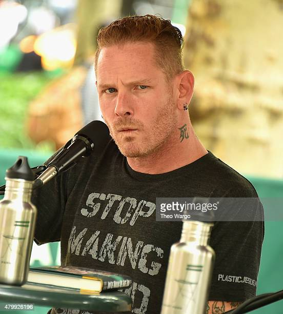 Corey Taylor attends the 'You're Making Me Hate You' Book Reading Hosted By Lou Brutus at Bryant Park Reading Room on July 8 2015 in New York City