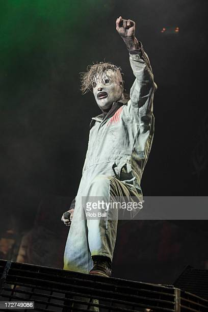 Corey Taylor from Slipknot headlines the Orange Stage on Day 1 of the Roskilde Festival on July 4 2013 in Roskilde Denmark