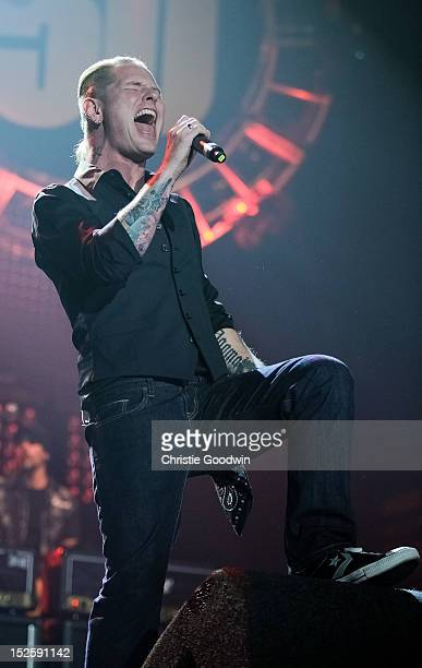 Corey Taylor of Slipknot and Stone Sour performs on stage during Marshall Amp's 50th Anniversary concert at Wembley Arena on September 22 2012 in...