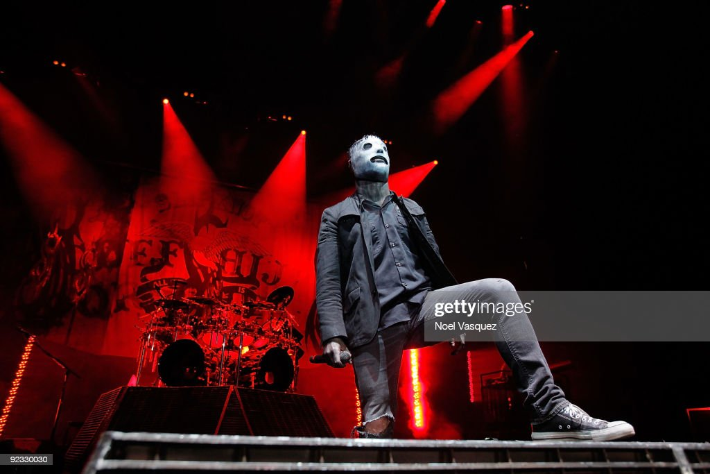 Corey Taylor of Slipknot performs at the Cypress Hill's Smokeout at the San Manuel Amphitheater on October 24 2009 in San Bernardino California