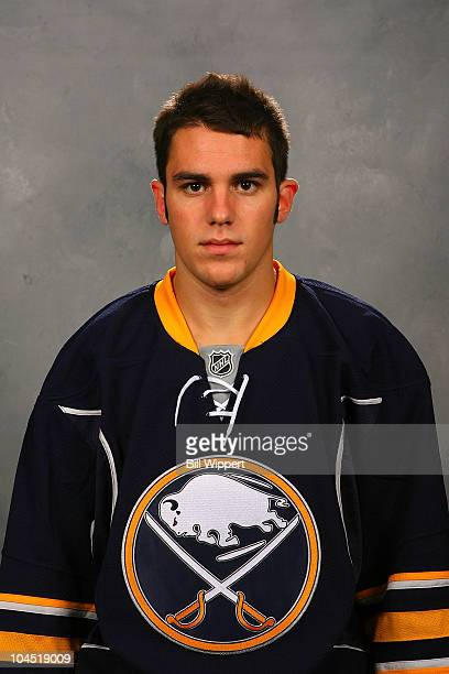 Corey Tropp of the Buffalo Sabres poses for his official headshot for the 20102011 NHL season on September 17 2010 in Buffalo New York