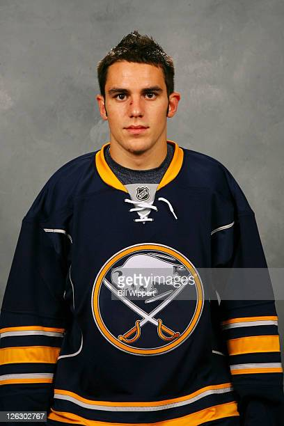Corey Tropp of the Buffalo Sabres poses for his official headshot for the 20112012 season on September 16 2011 at the First Niagara Center in Buffalo...