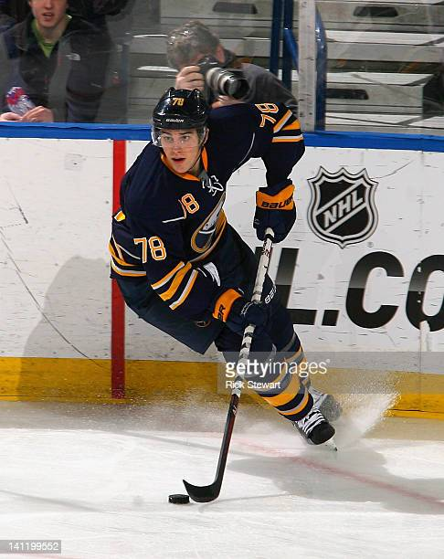 Corey Tropp of the Buffalo Sabres skates against the Montreal Canadiens at First Niagara Center on March 12 2012 in Buffalo New York