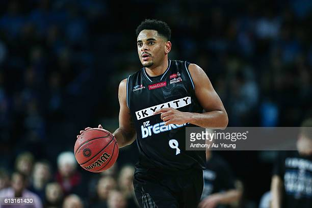 Corey Webster of New Zealand in action during the round one NBL match between the New Zealand Breakers and Melbourne United at Vector Arena on...