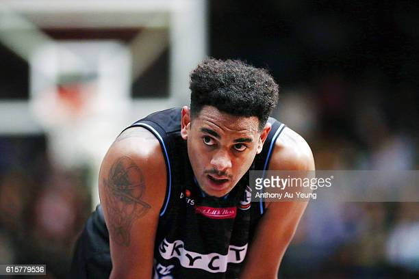 Corey Webster of New Zealand looks on during the round three NBL match between the New Zealand Breakers and the Sydney Kings at the North Shore...
