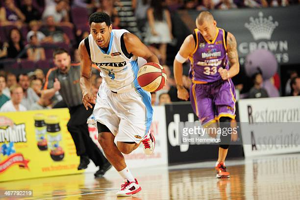 Corey Webster of the Breakers controls the ball during the round 17 NBL match between the Sydney Kings and the New Zealand Breakers at Sydney...