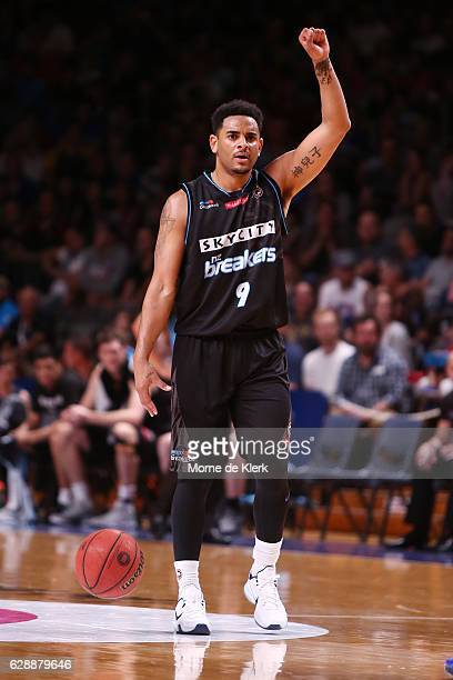 Corey Webster of the New Zealand Breakers brings the ball forward during the round 10 NBL match between the Adelaide 36ers and the New Zealand...