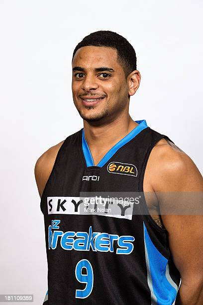 Corey Webster of the New Zealand Breakers poses for a photo during the official 2013/14 NBL Headshots Session at The Entertainment Quarter on...
