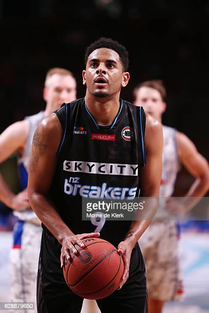 Corey Webster of the New Zealand Breakers takes a free throw during the round 10 NBL match between the Adelaide 36ers and the New Zealand Breakers at...