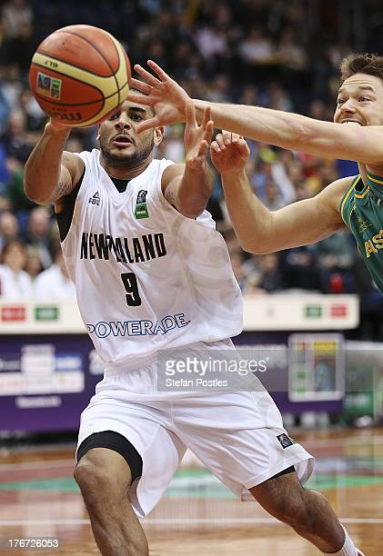 Corey Webster of the Tall Blacks in action during the Men's FIBA Oceania Championship match between the Australian Boomers and the New Zealand Tall...