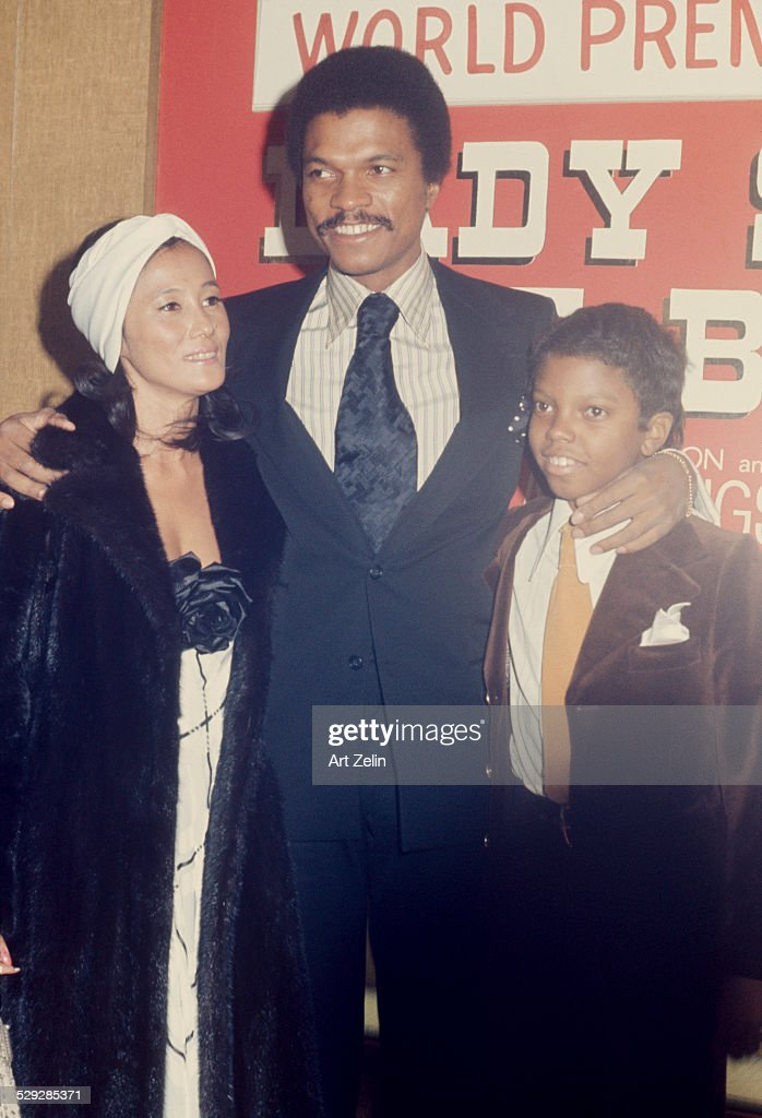 Corey Williams with his parents Billy D and Teruko Williams at the premiere of 'Lady Sings the Blues' 1972