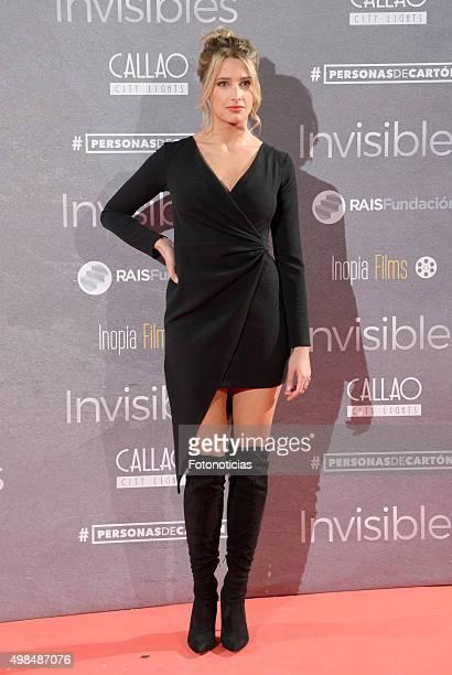 Corina Randazzo attends the 'Invisibles' Premiere at Callao Cinema on November 23 2015 in Madrid Spain