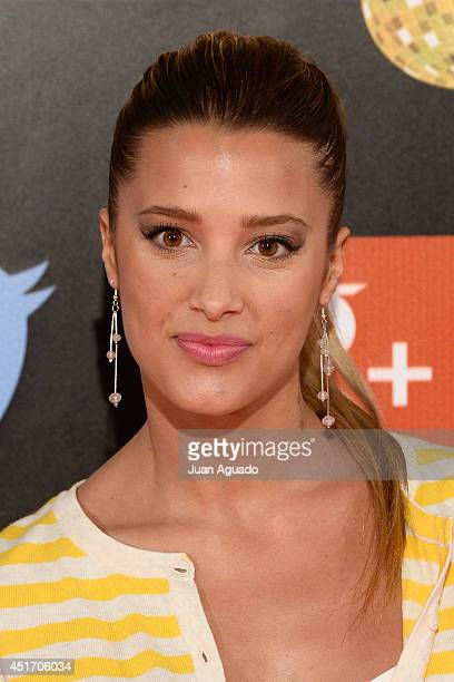 Corina Randazzo attends the Shangay Pride Madrid Photocall 2014 at Vicente Calderon Stadium on July 4 2014 in Madrid Spain