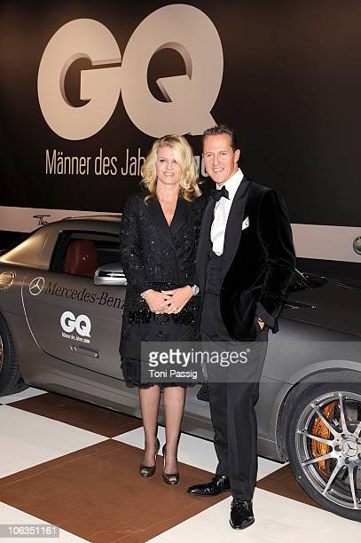 Corinna and Michael Schumacher attend the GQ Men Of The Year 2010 award ceremony at Komische Oper on October 29 2010 in Berlin Germany