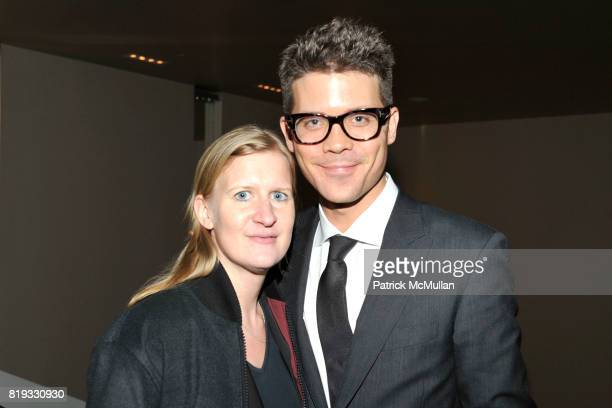 Corinna Bonn and Jonathan Frolich attend 'WATER WALL' Restaurant Hosts Tribeca Film Festival Screening of 'GET LOW' at Water Wall on April 27 2010 in...