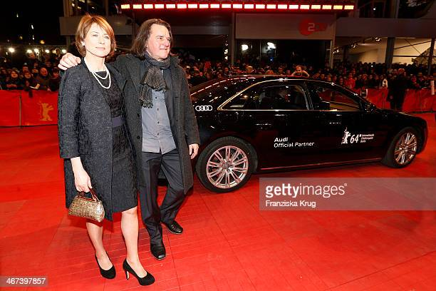 Corinna Harfouch and Wolfgang Krause attend 'The Grand Budapest Hotel' Premiere Audi At The 64th Berlinale International Film Festival at Berlinale...
