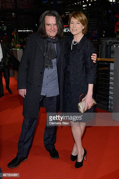 Corinna Harfouch and Wolfgang Krause Zwieback attends 'The Grand Budapest Hotel' Premiere and opening ceremony during the 64th Berlinale...