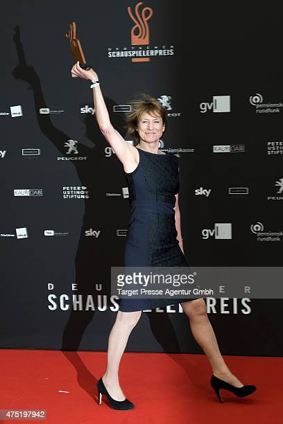 Corinna Harfouch attends the 'Deutscher Schauspielerpreis 2015' at Zoopalast on May 29 2015 in Berlin Germany