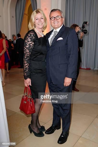 Corinna Hoffmann and Dietmar K Elsasser attend the 'Das Herz im Zentrum' Charity Gala on June 13 2014 in Hamburg Germany