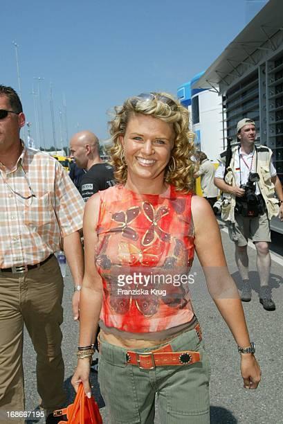 Corinna Schumacher at the Formula 1 race at the Hockenheimring