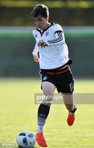 Corinna Statz of Germany in action during the International Friendly match between U16 Girl's Germany and U16 Girl's Denmark on November 1 2016 in...