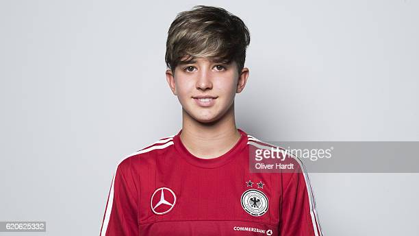 Corinna Statz of Germany poses during the photocall at U16 Girl's Germany Team Presentation on November 2 2016 in Flensburg Germany
