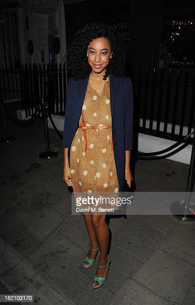 Corinne Bailey Rae attends as Whistles CEO Jane Shepherdson hosts the Whistles LFW SS2013 cocktail party at Bubbledog on September 16 2012 in London...
