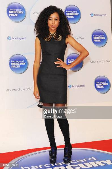 Corinne Bailey Rae attends the Barclaycard Mercury Music Prize 2012 at The Roundhouse on November 1 2012 in London England