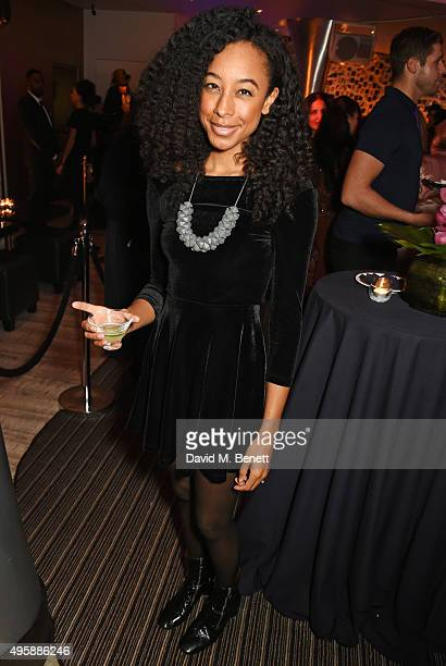 Corinne Bailey Rae attends the Nobu Berkeley St 10th anniversary party supported by Malone Souliers and Ciroc Vodka on November 5 2015 in London...