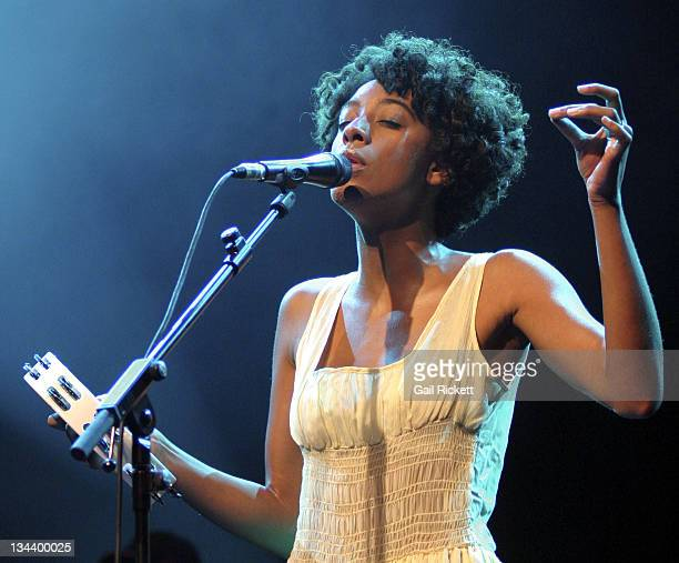 Corinne Bailey Rae during Corinne Bailey Rae Performs Live at 2006 Liverpool Summer Pops July 11 2006 in Liverpool Great Britain