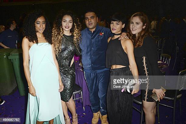 Corinne Bailey Rae Ella Eyre Naughty Boy Sinead Harnett and Katy B attend the MOBO Awards at First Direct Arena on November 4 2015 in Leeds England