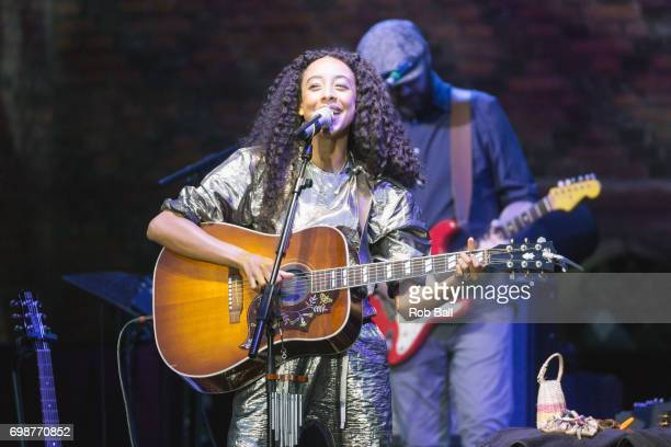Corinne Bailey Rae performs at Hampton Court Palace on June 20 2017 in London England