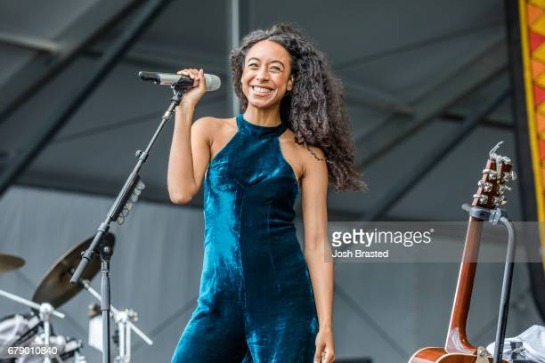 Corinne Bailey Rae performs at the New Orleans Jazz Heritage Festival at Fair Grounds Race Course on May 4 2017 in New Orleans Louisiana