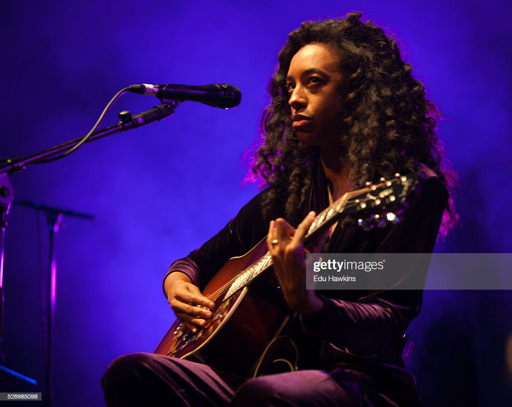 Corinne Bailey Rae performs live on stage at Cheltenham Jazz Festival on May 1, 2016 in Cheltenham, England.