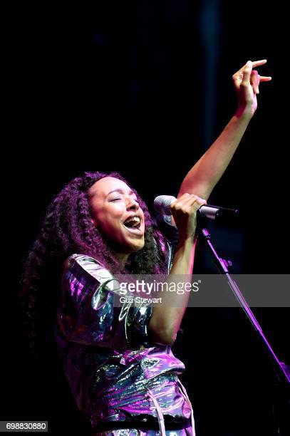 Corinne Bailey Rae performs on stage at Hampton Court Palace on June 20 2017 in London England