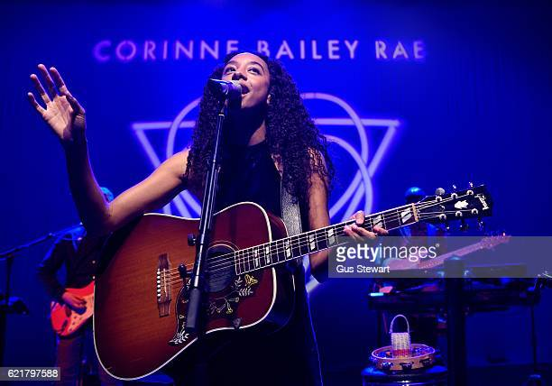 Corinne Bailey Rae performs on stage at the O2 Shepherds Bush on November 8 2016 in London England