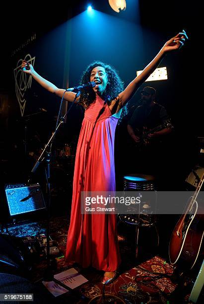 Corinne Bailey Rae performs on stage at The Tabernacle on April 7 2016 in London England