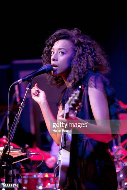 Corinne Bailey Rae performs on stage at The Tabernacle on November 23 2009 in London England