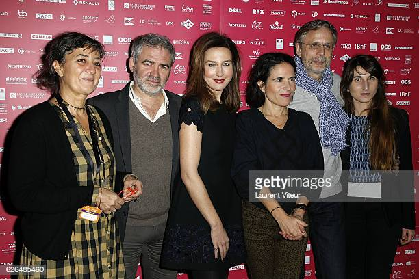 Corinne Bernard Stephane Brize Elsa Zylberstein Mazarine Pingeot Christophe Rossignon and Natalie Beder attend 'Courts Devants' Paris Festival at Mk2...