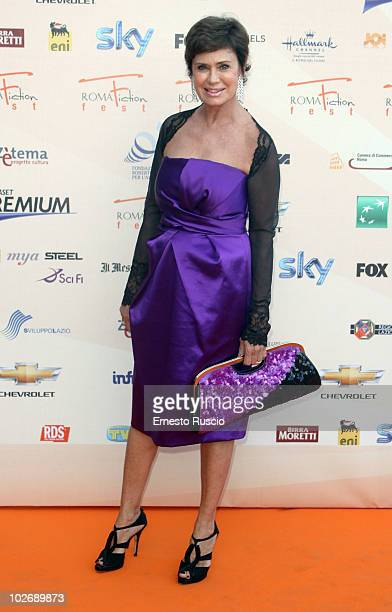 Corinne Clery attends the opening night of Fiction Fest 2010 at Castel Sant'Angelo on July 5 2010 in Rome Italy