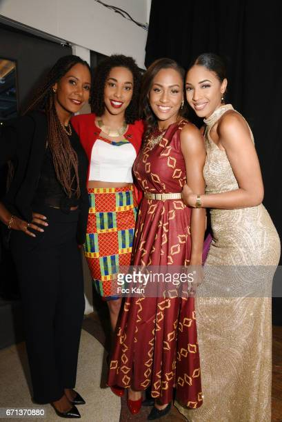Corinne Coman Chloe Mozar Morgane Theresine and Hyllen Legre attend APIPD Auction Gala 3rd Edition at Chalet du Lac Saint Mande on April 21 2017 in...