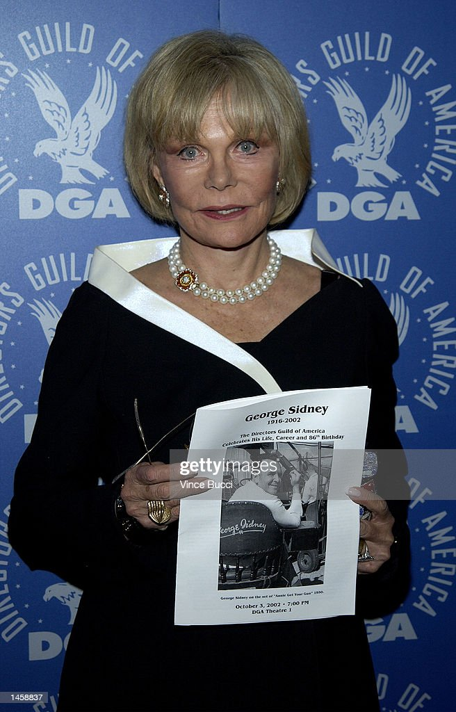 Corinne Entratter Sidney attends a tribute to the career of her late husband, director George Sidney, on October 3, 2002 at the Directors Guild of America in Hollywood, California.