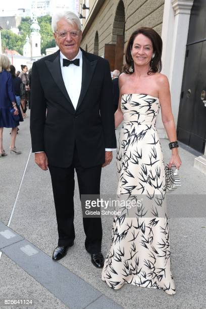 Corinne Flick and her husband Gert Rudolf 'Muck' Flick during the premiere of the opera 'Lady Macbeth von Mzensk' during the opera festival on August...