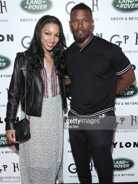 Corinne Foxx and Jamie Foxx attend NYLON's Rebel Fashion Party powered by Land Rover at Gramercy Terrace at Gramercy Park Hotel on September 12 2017...