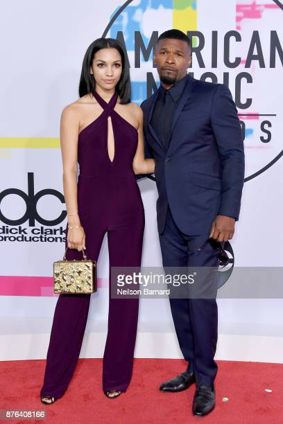 Corinne Foxx and Jamie Foxx attend the 2017 American Music Awards at Microsoft Theater on November 19 2017 in Los Angeles California