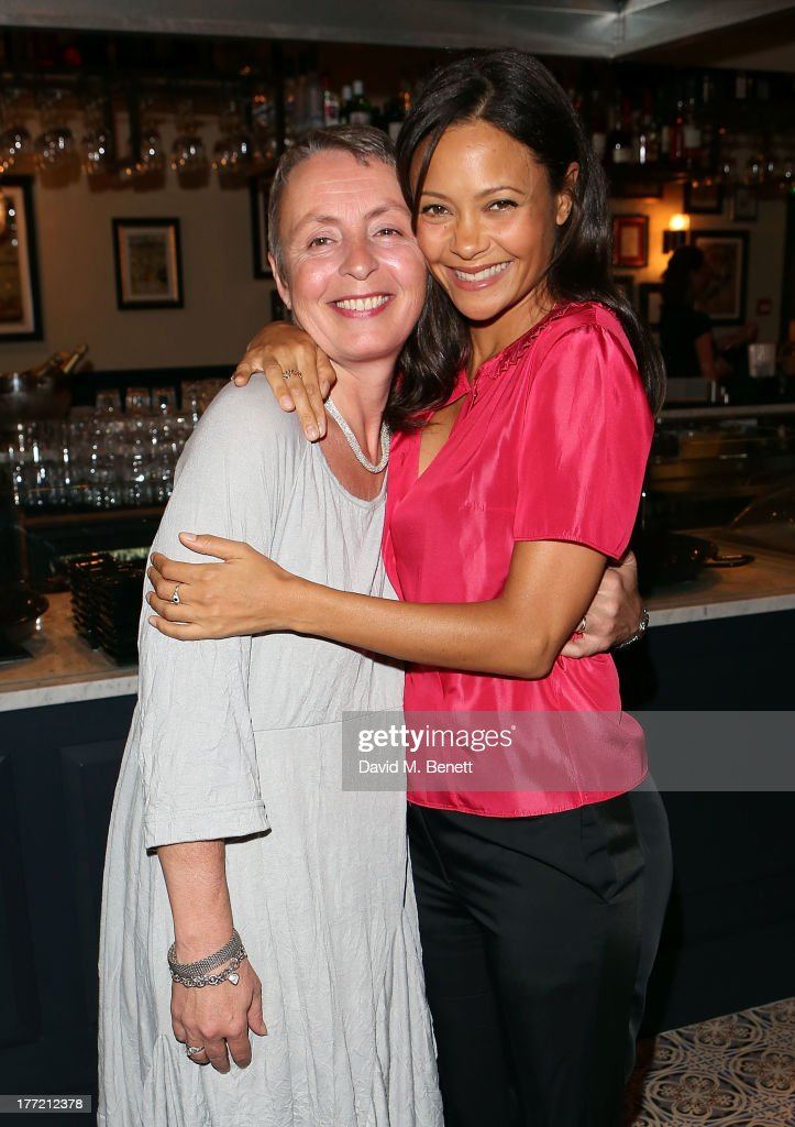 Corinne Gautier and <a gi-track='captionPersonalityLinkClicked' href=/galleries/search?phrase=Thandie+Newton&family=editorial&specificpeople=210812 ng-click='$event.stopPropagation()'>Thandie Newton</a> (R) attend the launch party of Madame Gautier on August 22, 2013 in London, England.