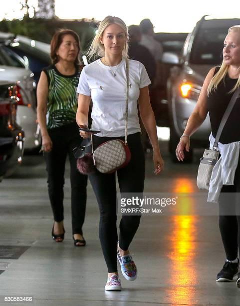 Corinne Olymios is seen on August 11 2017 in Los Angeles California