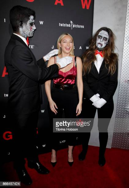Corinne Olympios attends the premiere of Lionsgate's 'Jigsaw' at ArcLight Hollywood on October 25 2017 in Hollywood California