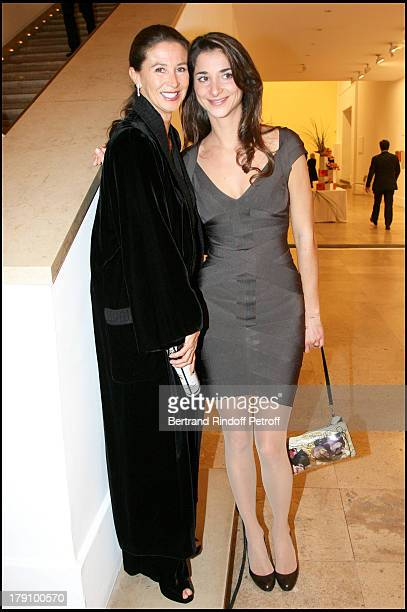 Corinne Ricard and daughter Lorraine at Dinner Gala and Exhibition Of 'Deadline' At Musee D'Art Moderne De La Ville De Paris