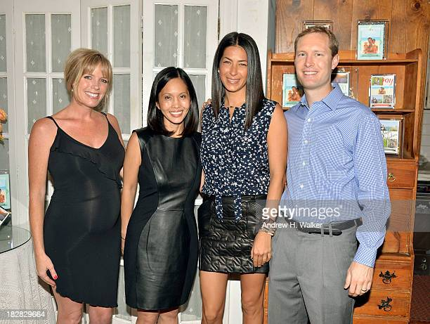 Corinne Saunders Laura Ching Rebecca Minkoff and Greg Hintz attend The Rebecca Minkoff Holiday Collection exclusively for Tiny Prints Luncheon at...